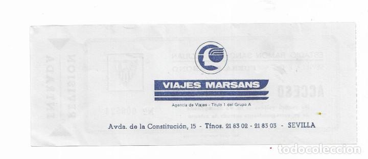 Coleccionismo deportivo: ENTRADA ANTIGUA- ESTADIO RAMÓN SÁNCHEZ PIZJUAN- - Foto 2 - 289507008