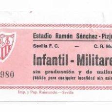 Coleccionismo deportivo: ENTRADA ANTIGUA- ESTADIO RAMÓN SÁNCHEZ PIZJUAN- SEVILLA F.C- C.R. MURCIA- 23 DE DICIEMBRE DE 1986. Lote 289507078