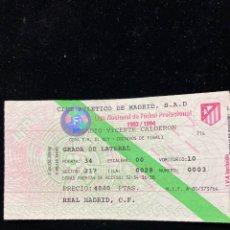 Coleccionismo deportivo: ENTRADA OCTAVOS DE FINAL MADRID-ATLETI 1993-94 COPA DEL REY. Lote 290518798