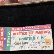 Coleccionismo deportivo: ENTRADA DE FÚTBOL TORNEO DE MARBELLA ATLETI- SPORTING DE LISBOA. Lote 290519688