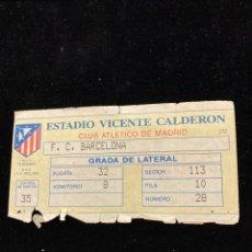 Coleccionismo deportivo: ANTIGUA ENTRADA FC BARCELONA-ATLETI. Lote 290519893