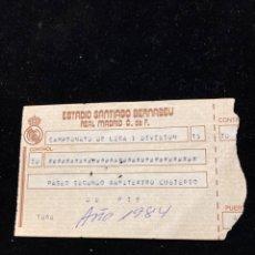 Coleccionismo deportivo: ANTIGUA ENTRADA DE FÚTBOL REAL MADRID. Lote 290520453