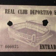 Coleccionismo deportivo: ENTRADA REAL CLUB DEPORTIVO ESPAÑOL. FOTO SOLER PORTERO. AÑOS 50. Lote 292343113