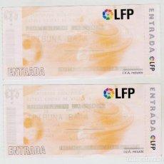 Coleccionismo deportivo: 2 ENTRADAS - ESTADI CIUTAT DE VALENCIA - TEMPORADA 2004/2005 - PERFECTO ESTADO. Lote 293313678