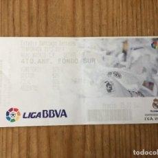 Coleccionismo deportivo: R15526 ENTRADA TICKET FUTBOL REAL MADRID 4-1 GETAFE (22-9-2013) GOL 150 CRISTIANO RONALDO. Lote 294163673