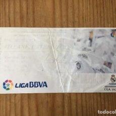 Coleccionismo deportivo: R15528 ENTRADA TICKET FUTBOL REAL MADRID 4-1 GETAFE (22-9-2013) GOL 150 CRISTIANO RONALDO. Lote 294163778