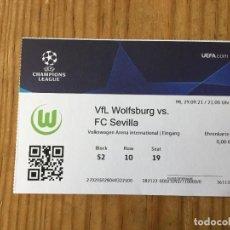 Coleccionismo deportivo: R15536 ENTRADA TICKET FUTBOL WOLSFURGO SEVILLA UEFA CHAMPIONS LEAGUE 2021 2022. Lote 294166613
