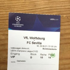 Coleccionismo deportivo: R15537 ENTRADA TICKET PASE VIP FUTBOL WOLSFURGO SEVILLA UEFA CHAMPIONS LEAGUE 2021 2022. Lote 294166788