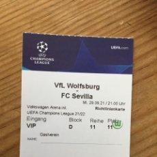 Coleccionismo deportivo: R15538 ENTRADA TICKET PASE VIP FUTBOL WOLSFURGO SEVILLA UEFA CHAMPIONS LEAGUE 2021 2022. Lote 294166923