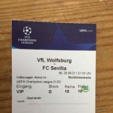 Coleccionismo deportivo: R15539 ENTRADA TICKET PASE VIP FUTBOL WOLSFURGO SEVILLA UEFA CHAMPIONS LEAGUE 2021 2022. Lote 294166973