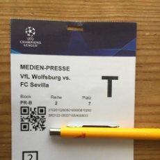 Coleccionismo deportivo: R15540 ENTRADA TICKET PASE PRENSA FUTBOL WOLSFURGO SEVILLA UEFA CHAMPIONS LEAGUE 2021 2022. Lote 294167028