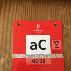 Coleccionismo deportivo: R15552 ENTRADA ACREDITACION MD 2B JUVENTUS 1-0 CHELSEA UEFA CHAMPIONS LEAGUE 2021 2022. Lote 294173003