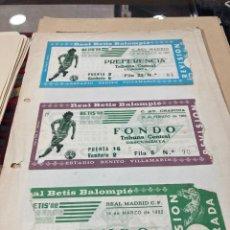 Coleccionismo deportivo: LOTE DE 3 ENTRADAS ANTIGUAS DEL BETIS. Lote 294579283
