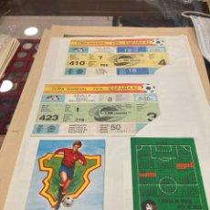 Coleccionismo deportivo: LOTE DE ENTRADAS DE ESPAÑA (82) INCLUYENDO UNA SEMIFINAL, MÁS PROGRAMAS. Lote 294580853