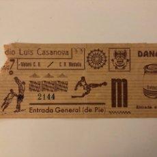 Coleccionismo deportivo: C.D. MESTALLA V MATARO C.D. ENTRADA - ESTADIO LUIS CASANOVA. Lote 295341028