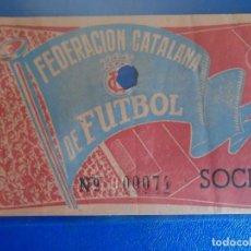 Coleccionismo deportivo: (FE-16)ENTRADA FEDERACION CATALANA DE FUTBOL. Lote 295423638
