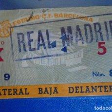 Coleccionismo deportivo: (FE-18)ENTRADA C.F.BARCELONA-REAL MADRID. Lote 295424073