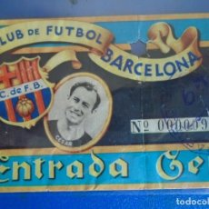 Coleccionismo deportivo: (FE-21)ENTRADA C.F.BARCELONA AÑO 49 FOTOGRAFIA CESAR. Lote 295425318