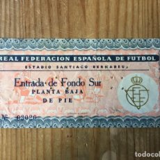 Coleccionismo deportivo: R15553 ENTRADA TICKET FUTBOL FINAL COPA GENERALISIMO 1961 ATLETICO MADRID 3-2 REAL MADRID. Lote 295425338