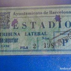 Coleccionismo deportivo: (FE-27)ENTRADA ESTADIO MONJUICH FUTBOL ESPAÑA-BELGICA. Lote 295427718