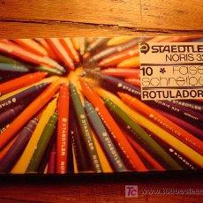 Escribanía: CAJA DE ROTULADORES 10 COLORES STAEDTLER NORIS 323. Lote 17320434