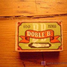 Escribanía: CAJA DE PLUMILLAS DOBLE B. Lote 15995369