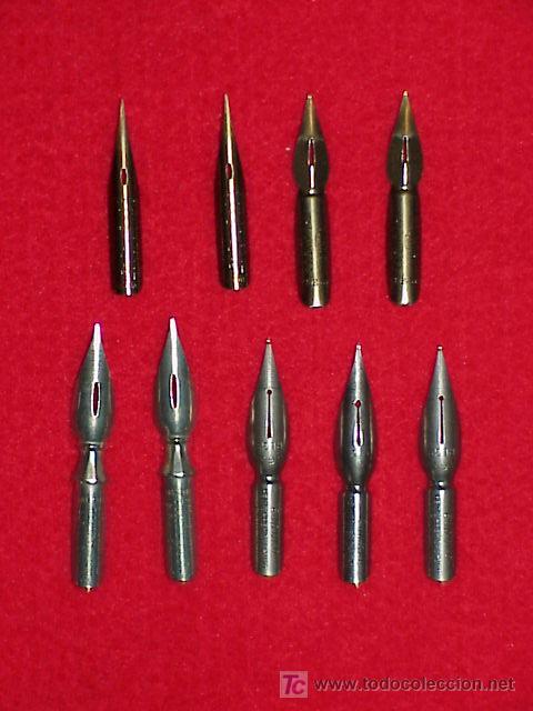 PLUMILLAS ANTIGUAS PARA PALILLERO LOTE X 9 UNIDADES (Plumas Estilográficas, Bolígrafos y Plumillas - Plumillas y Otros Elementos de Escribanía)