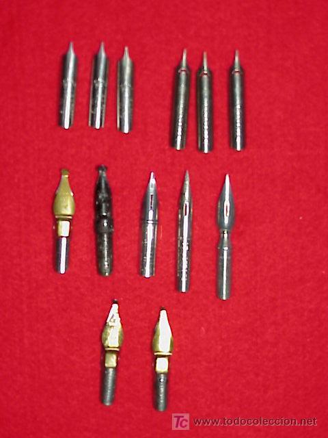 PLUMILLAS ANTIGUAS PARA PALILLERO LOTE X 13 UNIDADES (Plumas Estilográficas, Bolígrafos y Plumillas - Plumillas y Otros Elementos de Escribanía)