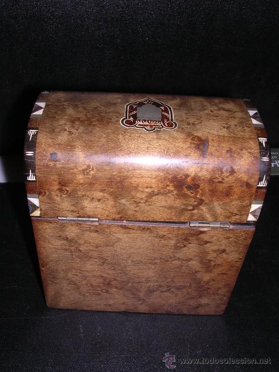 Caja de madera con marqueteria incrustada con 2 comprar - Madera para marqueteria ...
