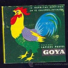 Escribanía: CAJA DE LAPICES PASTEL DE CERA. GOYA. 12 LAPICES.. Lote 9319755