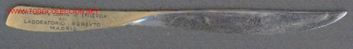 ABRECARTAS CON PUBLICIDAD DE BOROLUMYL CONTRA LA EPILEPSIA, DEL LABORATORIO BENEYTO. MADRID (Plumas Estilográficas, Bolígrafos y Plumillas - Plumillas y Otros Elementos de Escribanía)