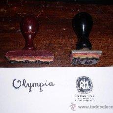 Escribanía: LOTE DE DOS TAMPONES, PUBLICIDAD OLYMPIA Y OMNIA. Lote 26168818