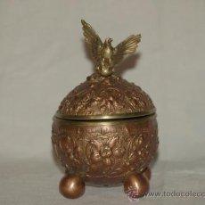 Escribanía - Tintero de bronce y cobre. Alemania. S. XIX - 22698000