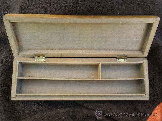 Escribanía: Plumier de madera. años 50 - Foto 2 - 23860292