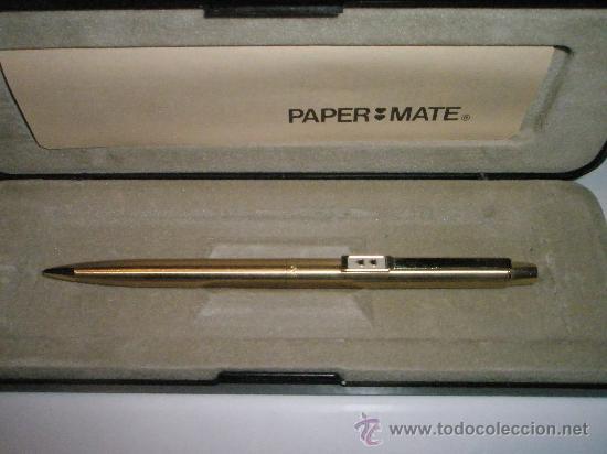Escribanía: R-AºPORTAMINAS-USA-PAPER MATE GOLD PLATED- NUEVO-SIN USAR. - Foto 3 - 26995614