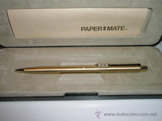 Escribanía: R-AºPORTAMINAS-USA-PAPER MATE GOLD PLATED- NUEVO-SIN USAR. - Foto 2 - 26995614