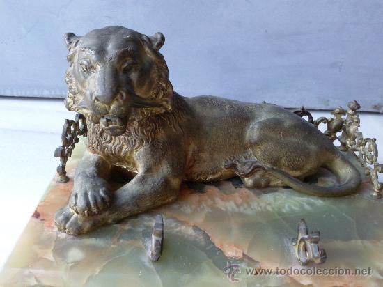 Escribanía: Antigua escribanía en bronce y ónix - Foto 2 - 27011765