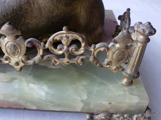 Escribanía: Antigua escribanía en bronce y ónix - Foto 4 - 27011765