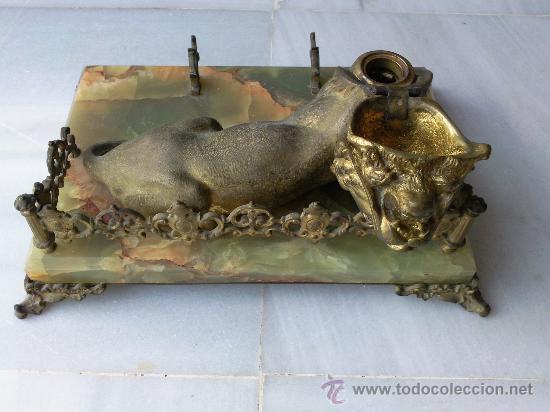 Escribanía: Antigua escribanía en bronce y ónix - Foto 5 - 27011765