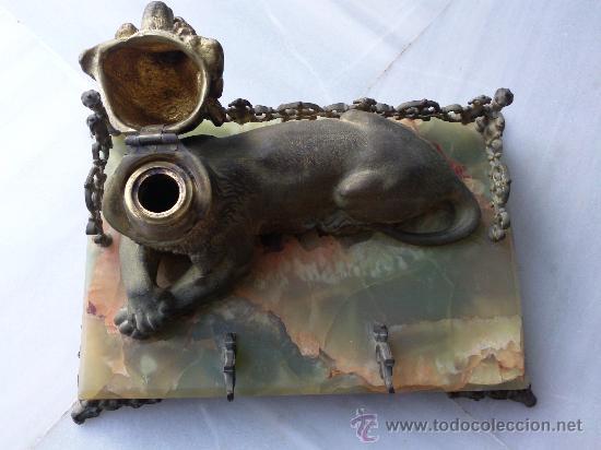 Escribanía: Antigua escribanía en bronce y ónix - Foto 6 - 27011765