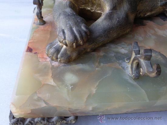 Escribanía: Antigua escribanía en bronce y ónix - Foto 7 - 27011765