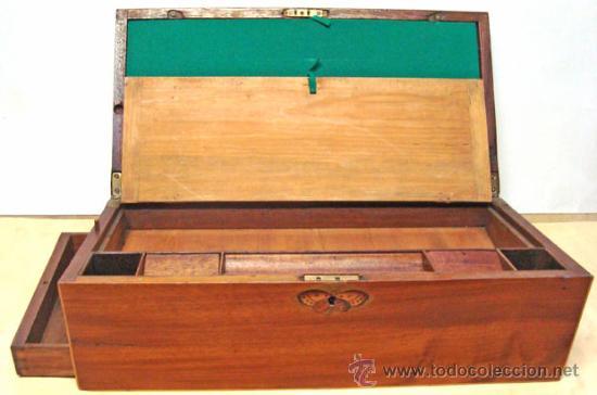 Escribanía: Escribania de viaje en caoba - Foto 5 - 175334283