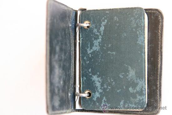 Escribanía: antigua pequeña cartera agenda libreta de notas anillas principios siglo XX walkers numero 302 - Foto 3 - 32185780