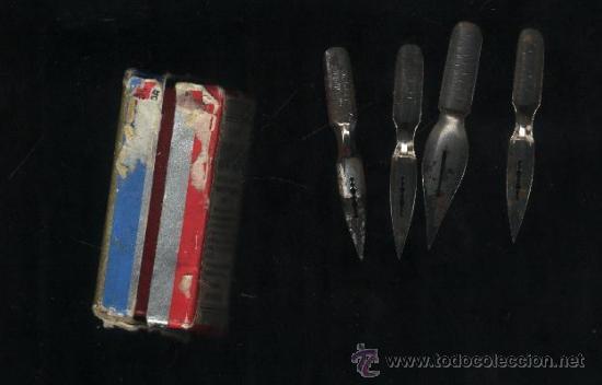 Escribanía: Cajita La plume Sergent-major. 4 plumillas usadas. - Foto 3 - 32187023