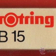 Escribanía: GOMA DE BORRAR - ROTRING B-15 - ALEMANIA - PARA ESCRITURA EN LAPIZ - AÑOS 70 / 80. Lote 32905984