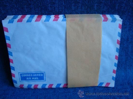 Escribanía: Antiguos Sobres para correo AEREO, 49 sobres Air Mail bordes azul y rojo - Foto 3 - 32986396