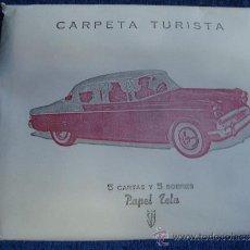 Escribanía: ANTIGUA CARPETA TURISTICA SOBRES Y CARTAS DE PAPEL TELA AÑOS 40 - 50 MARCA SM.. Lote 32986576
