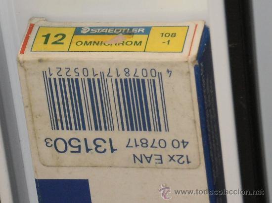 Escribanía: STAEDTLER-OMNICHROM-108-1-CAJA DE 12 LAPICES-MARCADORES EN SECO TODAS SUPERFICIES AMARILLOS-NUEVO - Foto 3 - 33444858