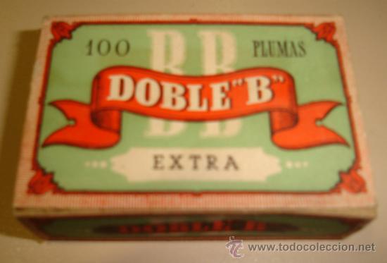 CAJA DE 100 PLUMILLAS. DOBLE B. EXTRA. Nº 726 (Plumas Estilográficas, Bolígrafos y Plumillas - Plumillas y Otros Elementos de Escribanía)
