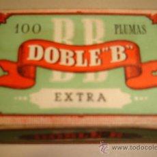 Escribanía: CAJA DE 100 PLUMILLAS. DOBLE B. EXTRA. Nº 726. Lote 34624796